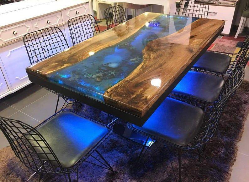 Epoxy table river table resin furniture diy resin art