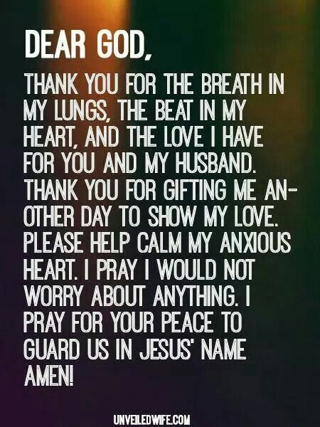 Thank you!   Prayer for boyfriend, Anxious heart, Prayer ...