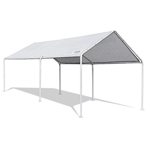 Quictent 20 X10 Heavy Duty Carport Car Canopy Party Wedding Tent With Waterproof Anti Uv Gray Cover Car Canopy Carport Canopy Gazebo Canopy
