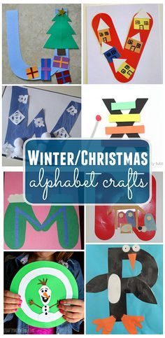 Winter/Christmas Alphabet Crafts for Kids - Crafty Morning