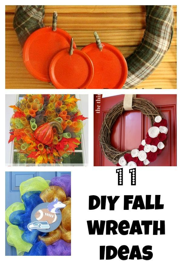 Wreaths add fantastic decor to any room. Here are simple fall wreath ideas. #fal…