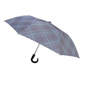 Plaid Compact Umbrella Gray, $23, now featured on Fab.