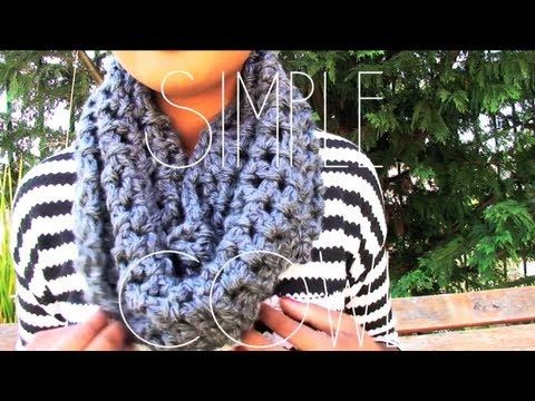 DIY: Crochet Chunky Infinity Scarf Super Fast and Easy to Make ...