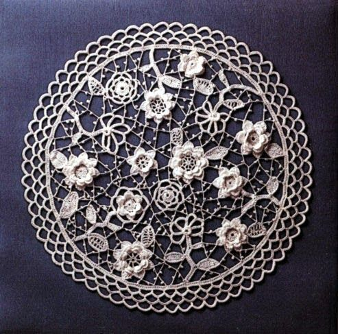 Ivelise Feito à Mão: Crochê Irlandês Decorativo