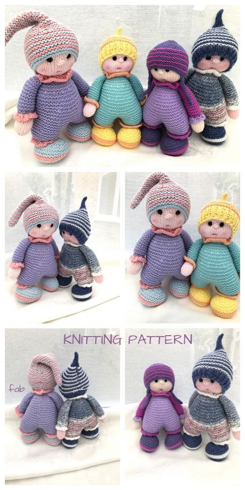 Knit Adorable Cuddly Doll Knitting Pattern #knitteddollpatterns Knit Adorable Cuddly Doll Knitting Pattern #knittedtoys