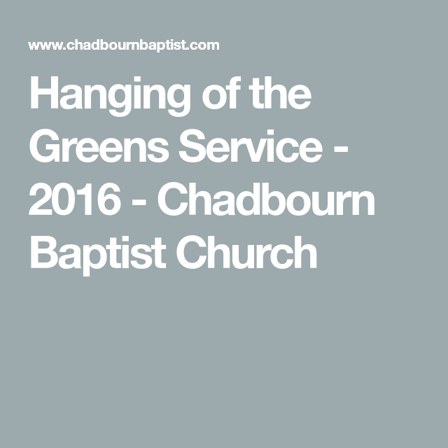Hanging Of The Greens Service 2016 Chadbourn Baptist Church