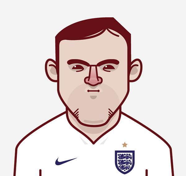 England World Cup Star Wayne Rooney Jogadores De Futebol Mundial Brasil 2014 Desenho