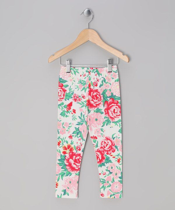 Take a look at this Little Shrimp Pink Peony Melody Leggings - Toddler & Girls on zulily today!
