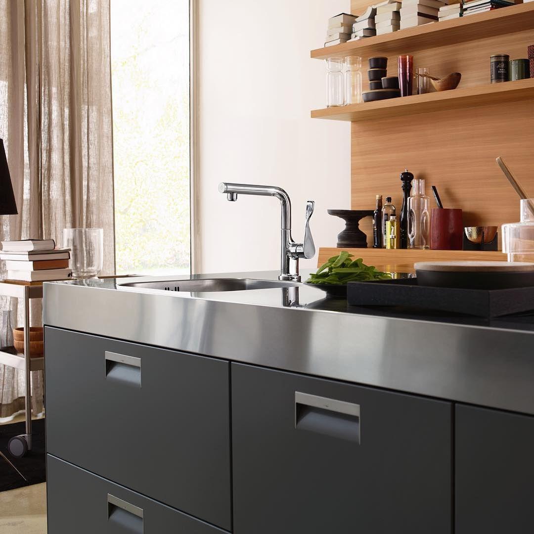 New family member in the kitchen: AXOR Citterio Select - comfort and movement around the kitchen sink.  #AXOR #AXORnordic #AntonioCitterio #design #interior #kitchen #mixer