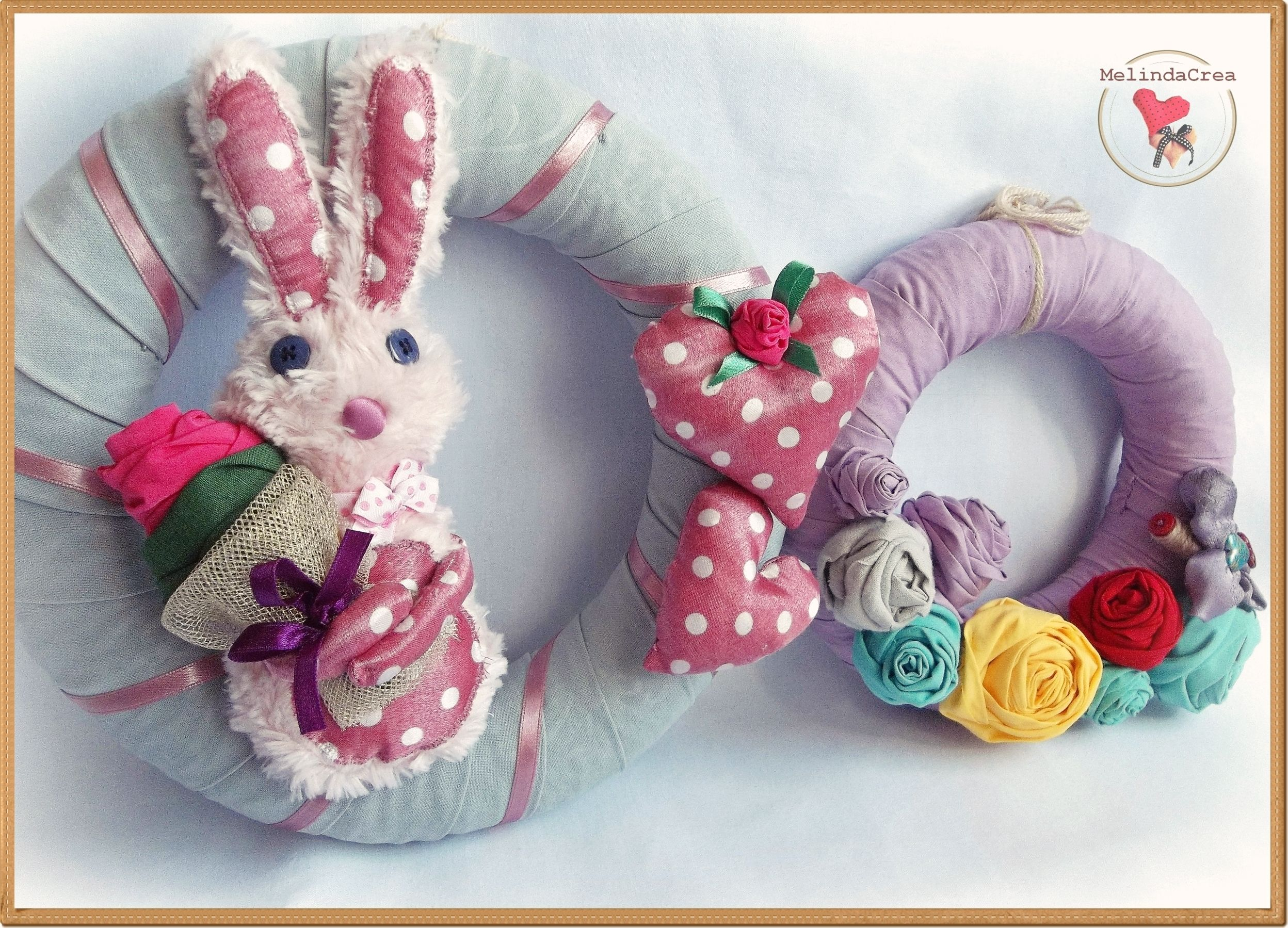 fabric wreath ~ handmade by MelindaCrea