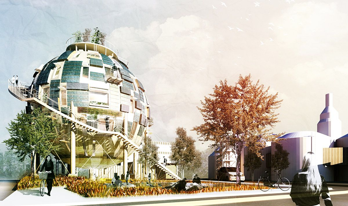 Oil Silo Home by Pink Cloud