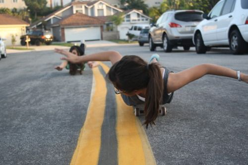 """OMG I was doing that (""""look mom, ima turtle!!"""") and my hair got caught under the wheel"""