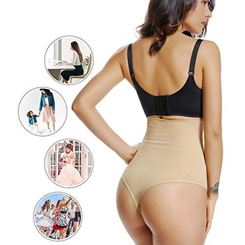 6c0b73bb89 Shapewear Underwear for Women Tummy Control Body Shaper High Waist Padded  Panty
