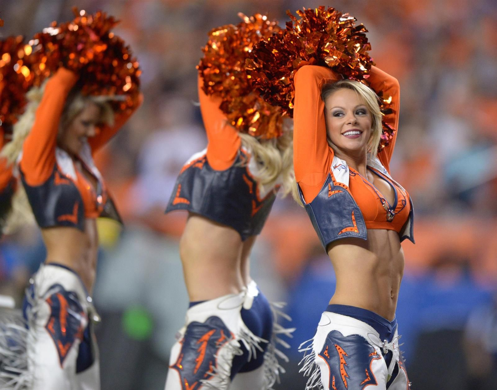 With Sexy bronco cheerleaders nude Such casual