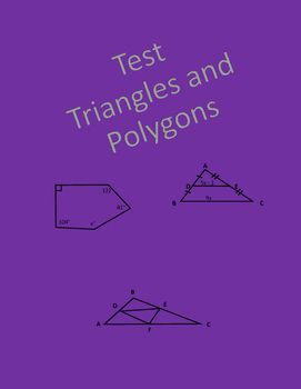 Geometry Test Triangles And Polygons Geometry Resources