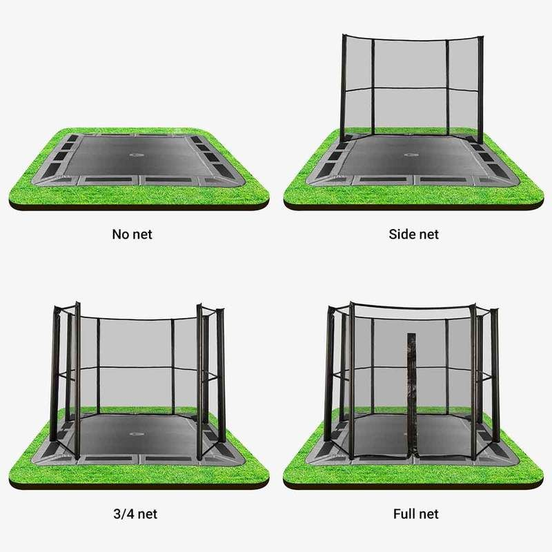 14ft x 10ft capital inground trampoline in 2020 in