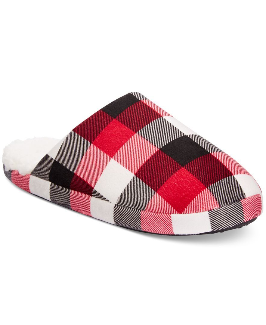 d86035c85420 Family Pajamas Men s Buffalo Plaid Slippers