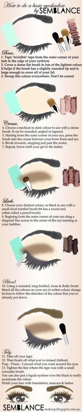 Make Up Tips And Tricks Diagram Eyeshadow And Makeup
