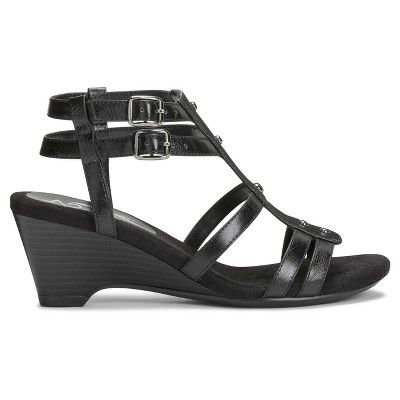 3d32ad5f532 Women s A2 by Aerosoles Mayor Heeled Gladiator Sandals - Black 10.5 ...