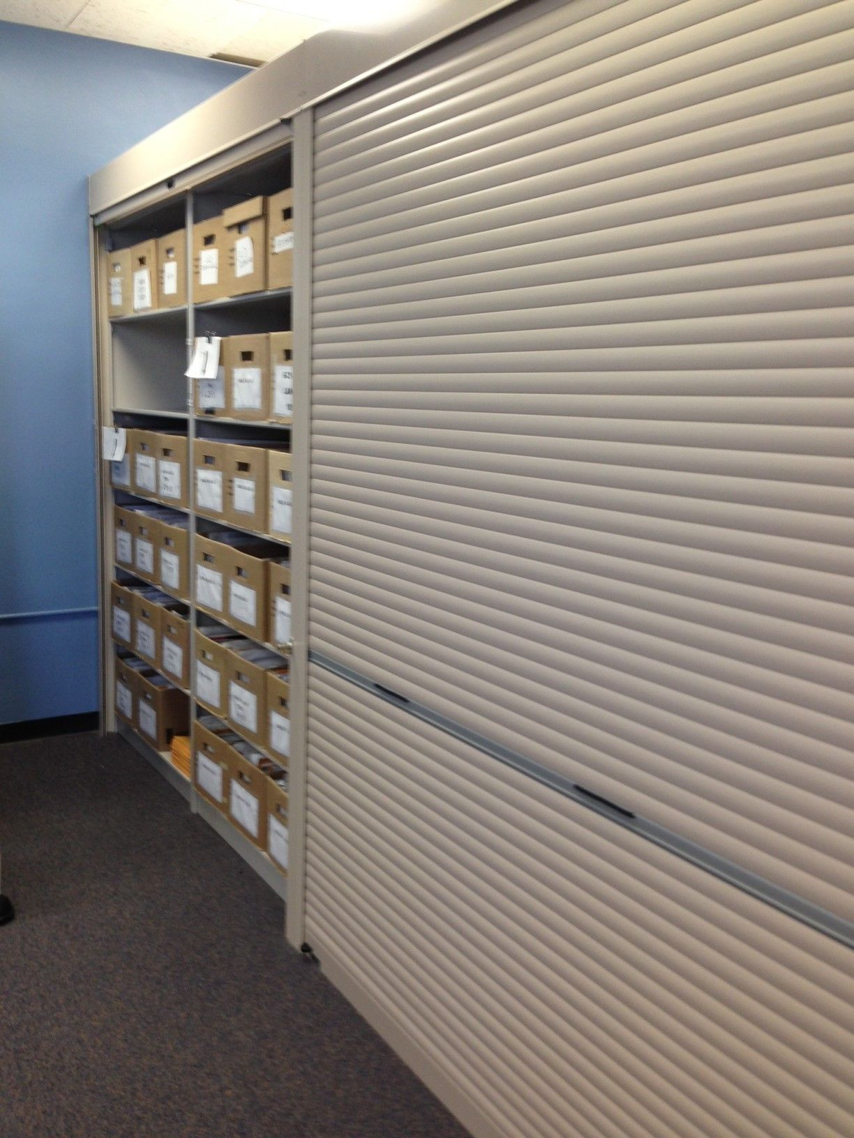 Rollok Security Shutters On Spacesaver 4 Post Shelving