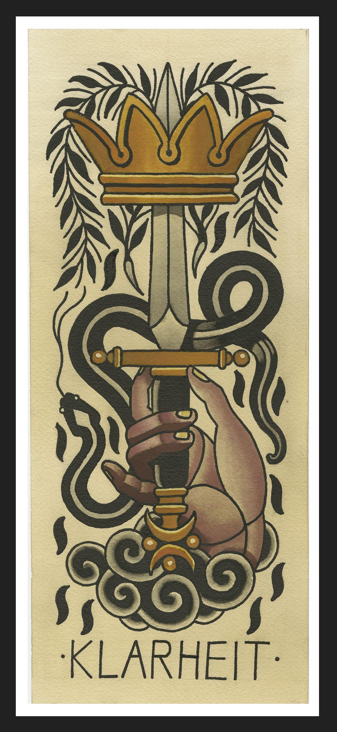 Ace Of Swords The Tarot Flash Set Sebastian Domaschke High Quality Tattoo Art Print Ace Of Swords Swords Tarot Tarot Major Arcana