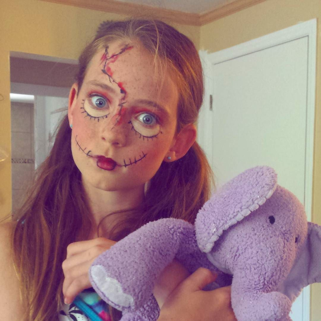My brilliant daughter Brielle is practicing her makeup for the horror movie she wants to make later this year. Do you think she is scary enough?