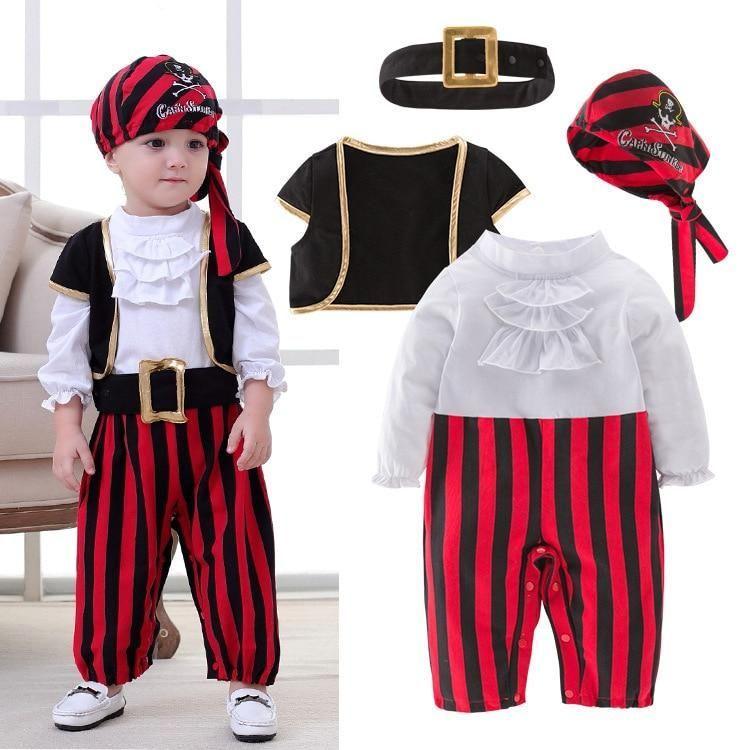 Pirata Capitán Cosplay Ropa Para Bebé Niño Halloween Navidad Ropa De Fantasía Disfraz De Halloween Para Disfraces Para Niños Ropa Para Niñas Trajes De Piratas