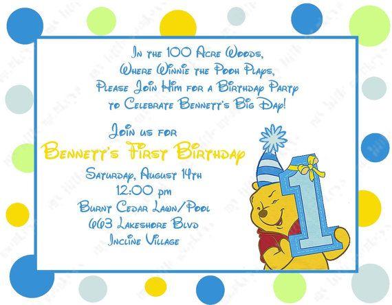 10 winnie the pooh boy first birthday invitations by bethcloud723 10 winnie the pooh boy first birthday invitations by bethcloud723 799 filmwisefo