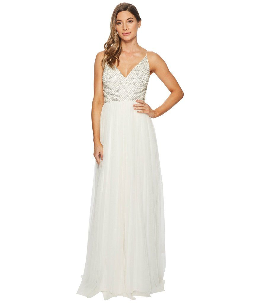 Best dresses to wear to a beach wedding  Temperley London Anastasia Embellished Tulle And Silkchiffon Gown