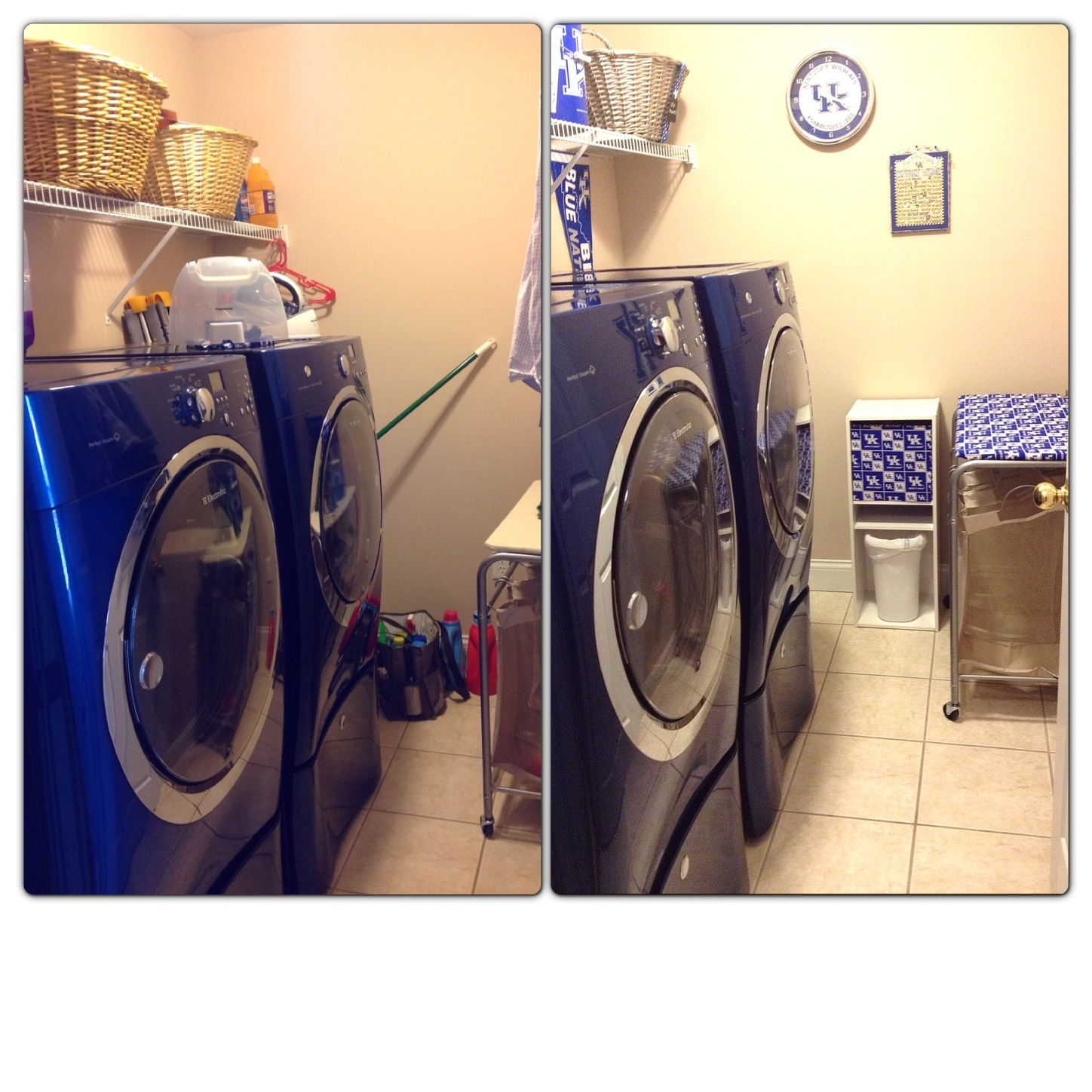 U.K. laundry room makeover before and after
