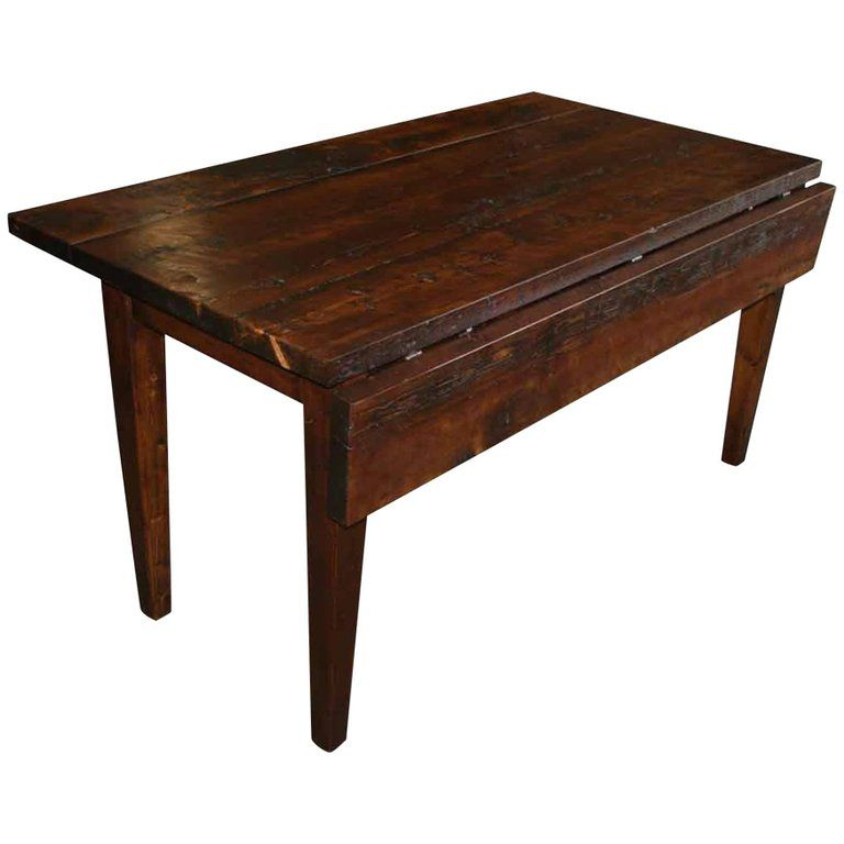 Custommade farm table with two drop leaves built to suit