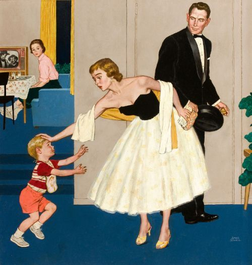 illustr.quenalbertini: Formal Hug, Little Boy w/Dirty Hands - Amos Sewell, USA 1901-1983   IAmA ChildWordPress