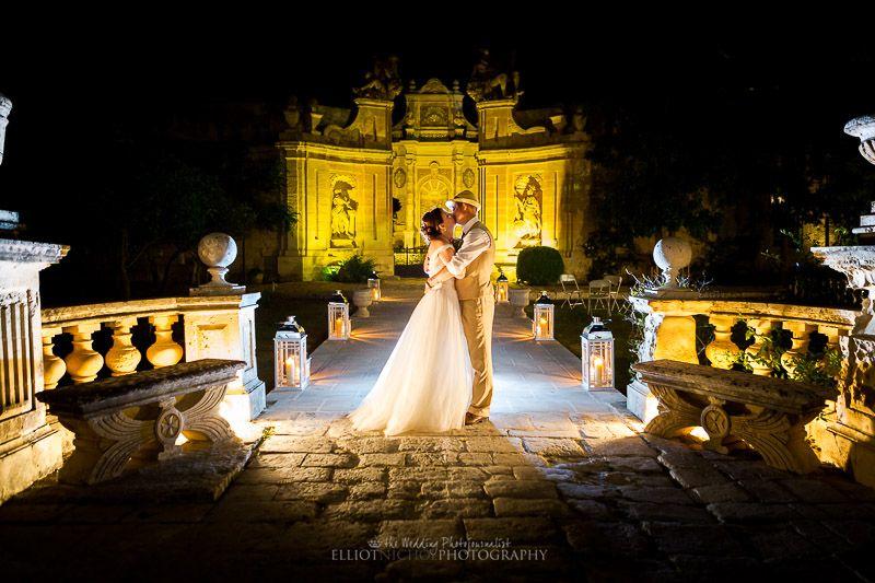 Wedding Portrait Of Newlyweds At Villa Bologna Malta Photo By Elliot Nichol Photography Destination Wedding Images Wedding Wedding Photography Gallery