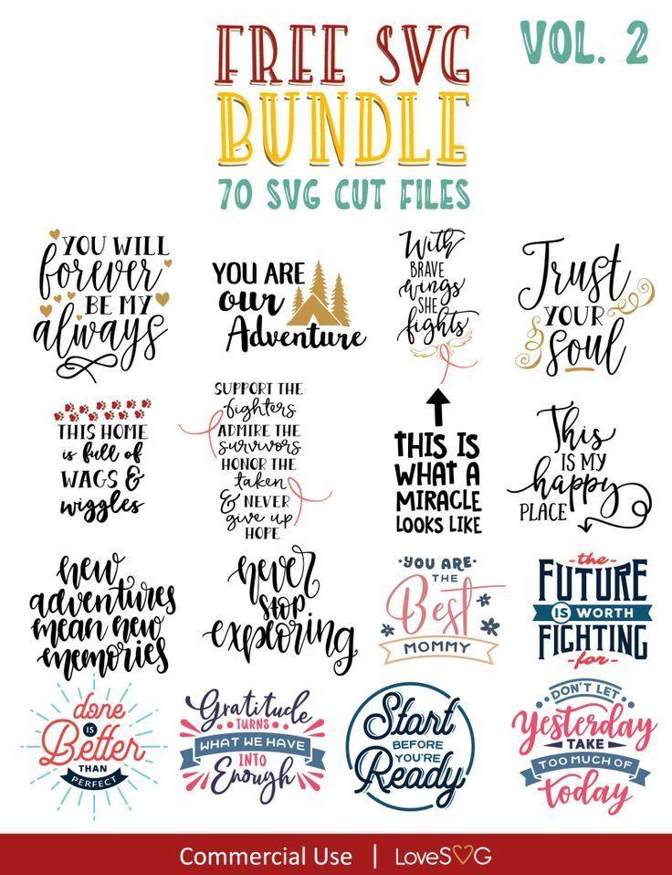 Download FREE SVG Bundle Vol. 2 | Cricut free, Motivational svg ...