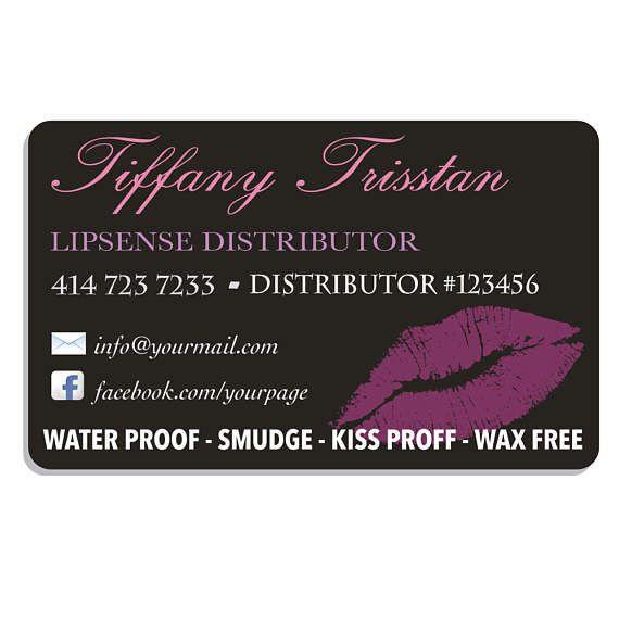 Lipsense Business Cards SeneGence Business Card Lip Sense Business - lipsense business card