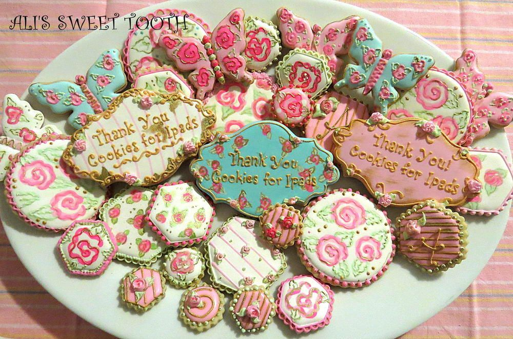 Ali's sweet tooth Shabby Chic Cookies | Cookie Connection
