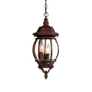 Acclaim lighting chateau collection 3 light burled walnut outdoor acclaim lighting chateau collection 3 light hanging lantern outdoor burled walnut light fixture 5160bw at the home depot mobile aloadofball Images