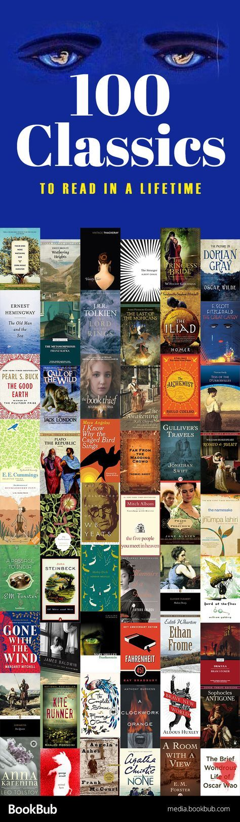 Reading Challenge 100 Classics To Read In A Lifetime -7075