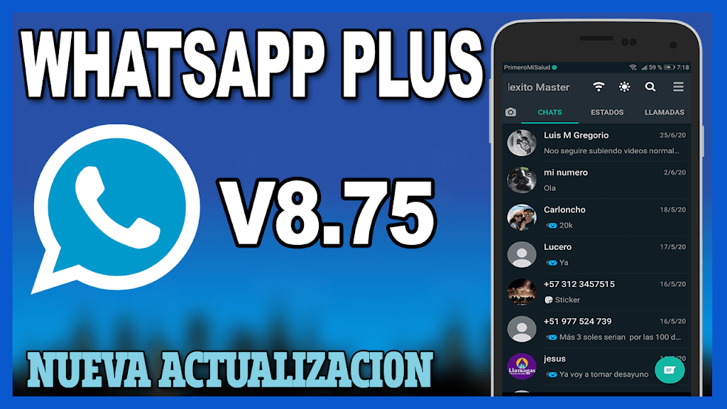 Descargar Whatsapp Plus 8 75 Ultima Version 2020 Descargar Whatsapp Plus Whatsapp Plus Como Instalar Whatsapp
