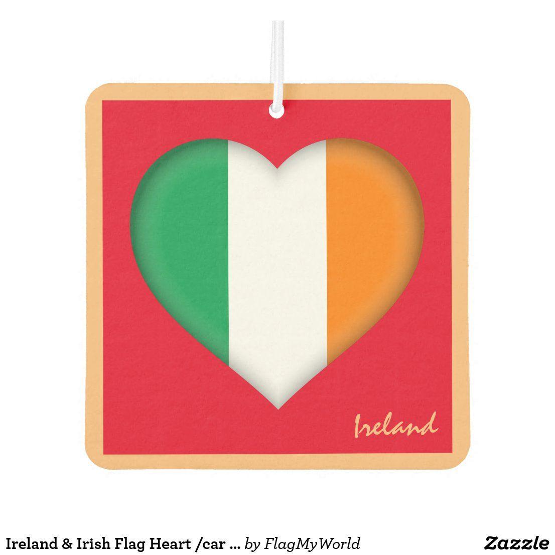 Ireland Irish Flag Heart Car Travel Sticker Air Freshener Zazzle Com In 2021 Travel Stickers Irish Flag Car Travel [ 1106 x 1106 Pixel ]