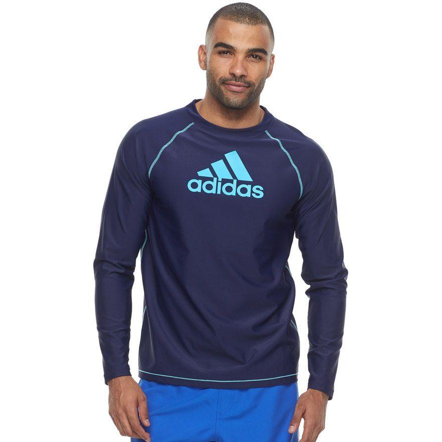 7d160a6bb5f0e Men s Adidas Rash Guard Swim Tee