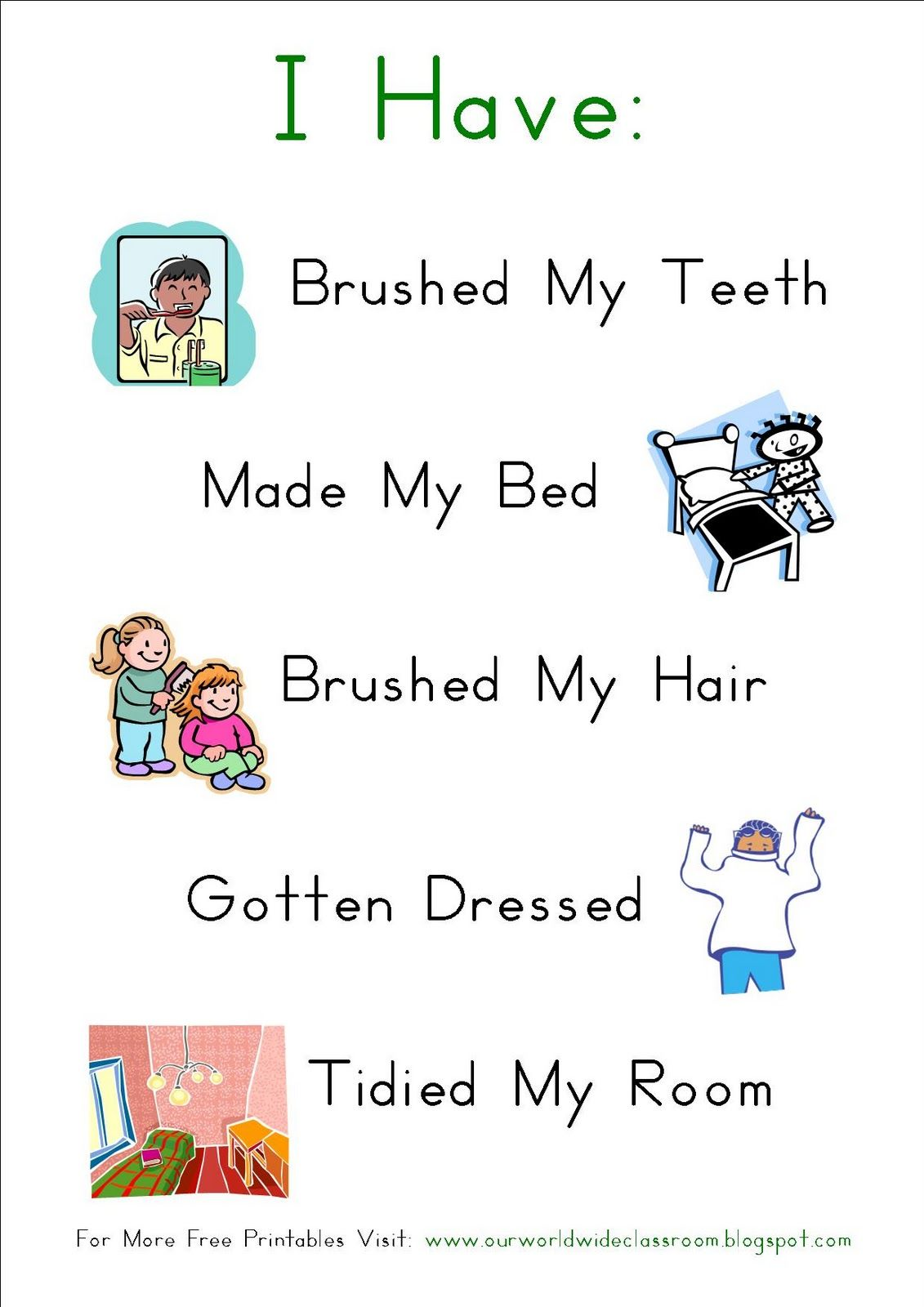 Simple Morning Routine Chart