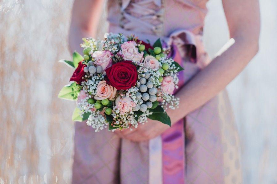 Brautstrauss In Rosa Passend Zum Dirndl Traditional Wedding