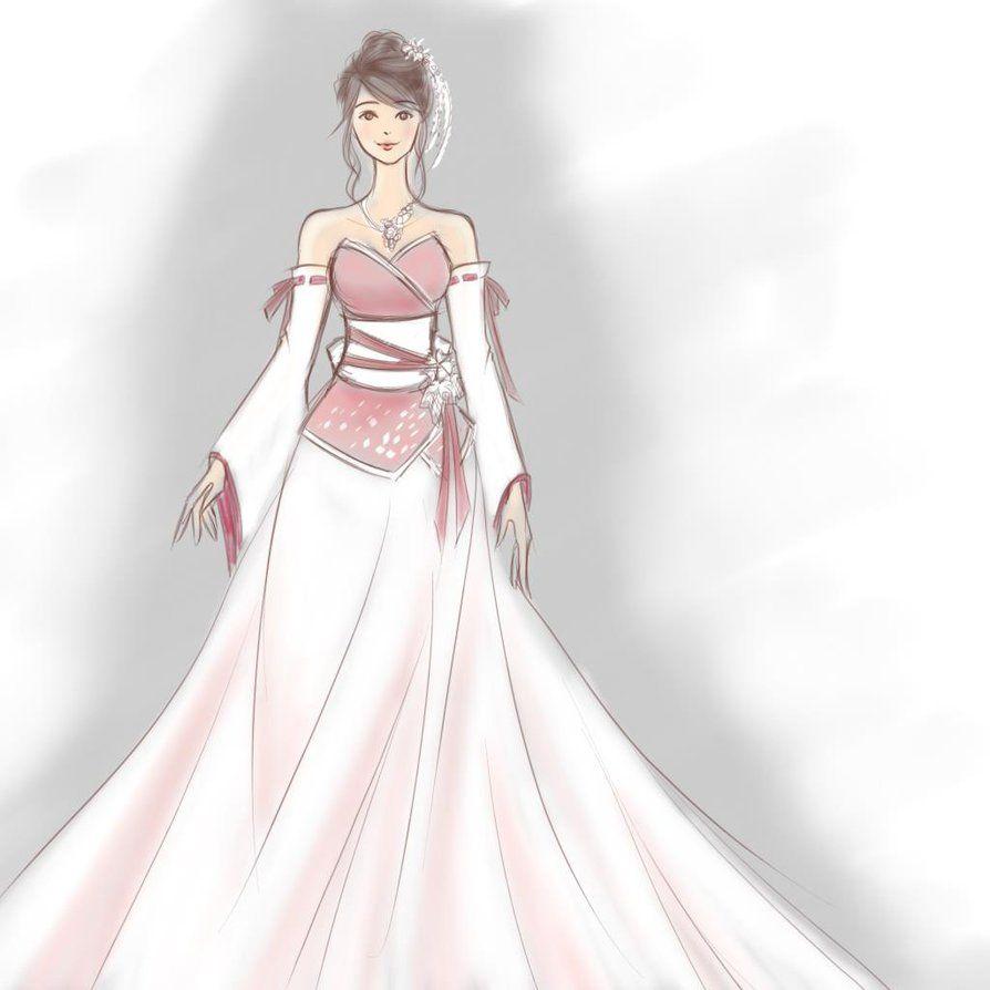 Japanese Wedding Gown: Kimono Wedding Dress By HitokiriChibi
