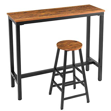 Amazon Com Mr Ironstone 2 Piece Bar Table Set 47 Pub Dining