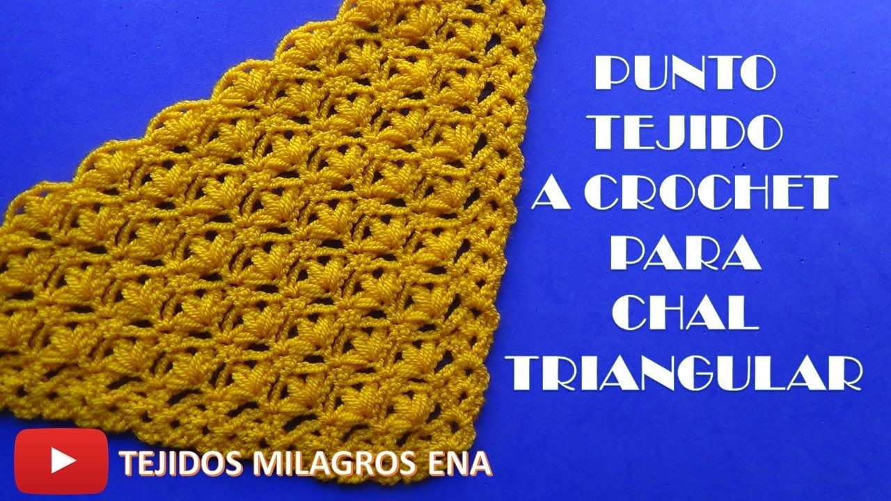 Punto a crochet para chales en V, triangulares o en punta N° 11 ...