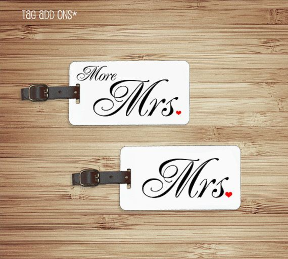 Mr And Mrs Quiz Questions: Luggage Tag Set Mr Mrs Custom Last Name Luggage Tag Metal