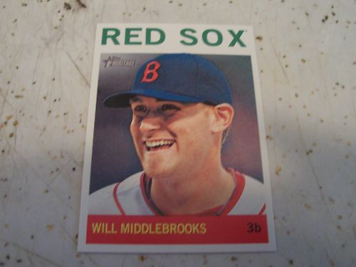 2013 Topps Heritage Card 60 Will Middlebrooks Boston Red Sox Mint Condition | eBay