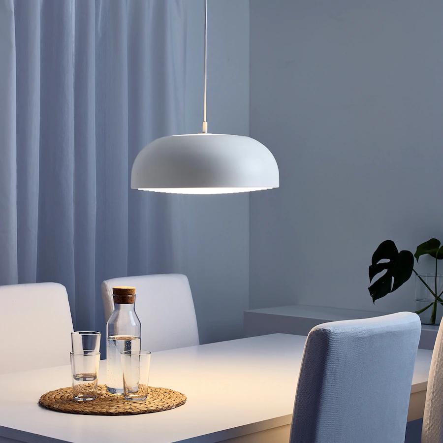 Nymane Pendant Lamp White Ikea In 2020 White Pendant Lamp Pendant Lamp Lamp