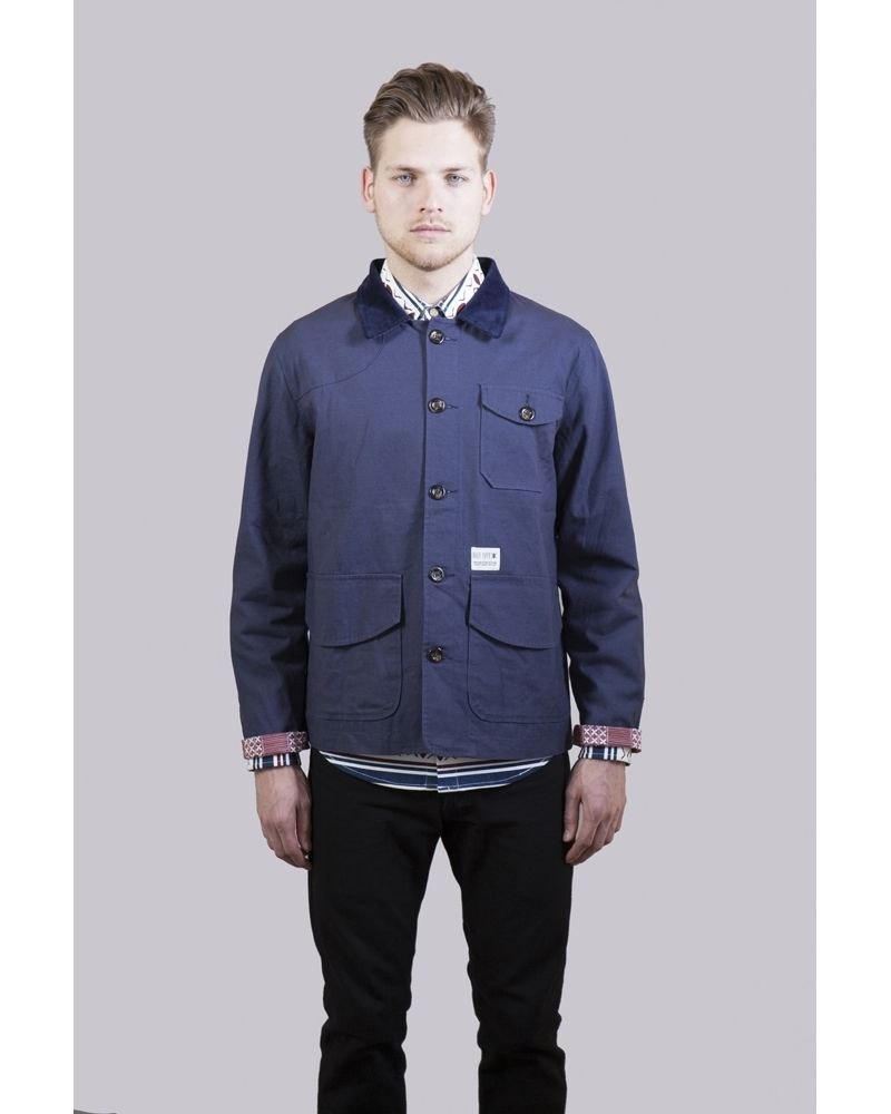 Flannel shirt tied around waist guys  Yoruba Chore Coat Navy  FashionCasual  Pinterest  Man jacket